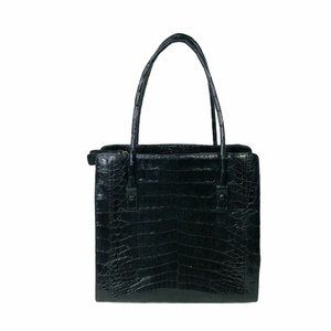 Nancy Gonzalez Black Crocodile Large Tote Black